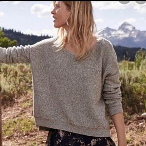 Anthropologie Gray Marled Moth Fairview Sweater S
